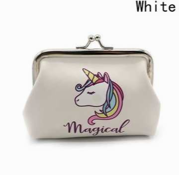 Monedero unicornio blanco
